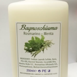 Bagnoschiuma rosmarino e menta | RSA Cosmesi